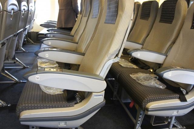 飛行機機内の座席