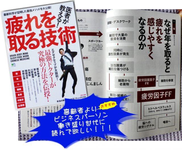 「疲れを取る技術」の表紙と中の画像