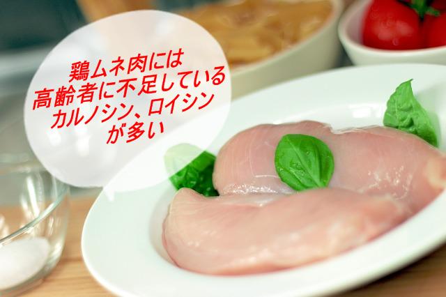 皿に載せた生の鶏ムネ肉