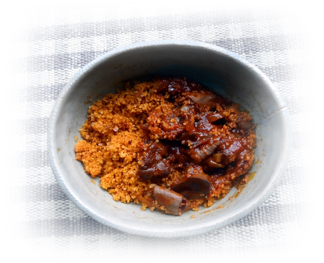 クスクスのイタリア風モツ煮|お籠もり・作り置きレシピ